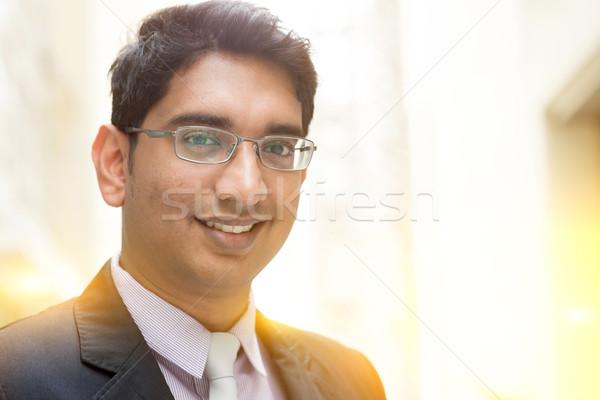 Asiático indiano empresário sorridente retrato Foto stock © szefei