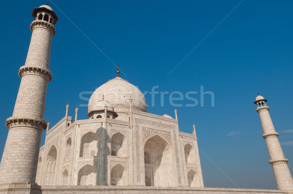 Taj Mahal with blue sky Stock photo © szefei