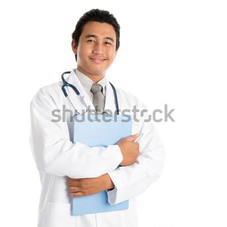 Sudeste asiático médico do sexo masculino retrato masculino médico Foto stock © szefei