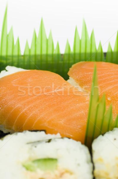 Sushi geïsoleerd witte vis asian Stockfoto © szefei