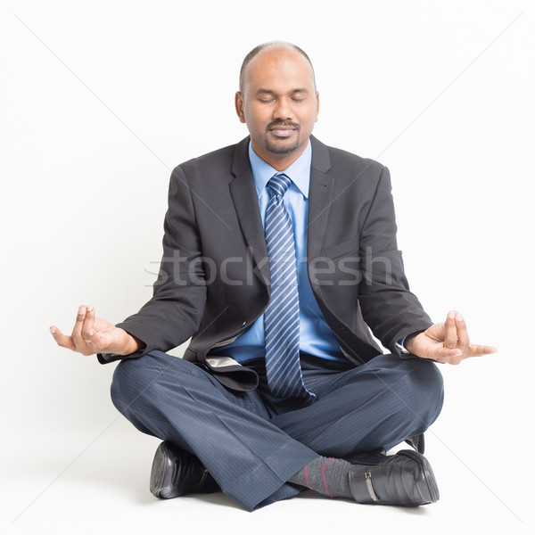 Business meditazione stress gestione indian Foto d'archivio © szefei