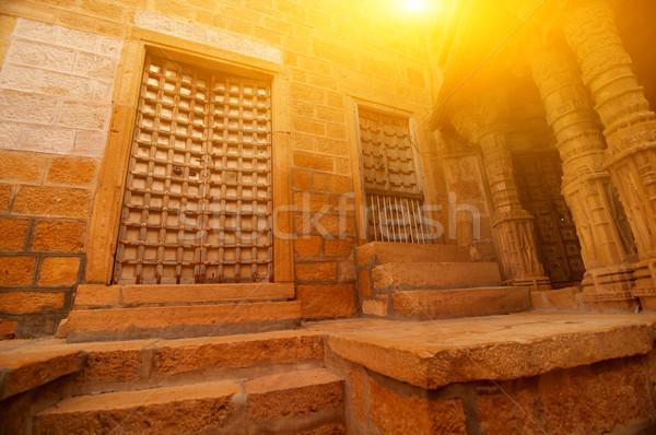 Bent erőd részletek falak ajtók épület Stock fotó © szefei