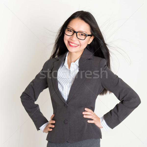 Portrait of Asian businesspeople  Stock photo © szefei