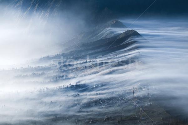 Mgły krater jawa Indonezja charakter Zdjęcia stock © szefei