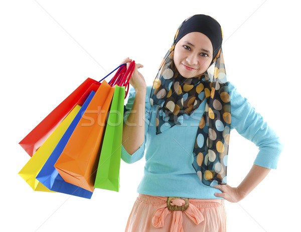 Muslim shopper Stock photo © szefei