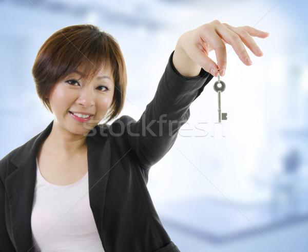 Nuevos propiedad adulto Asia mujer armas Foto stock © szefei