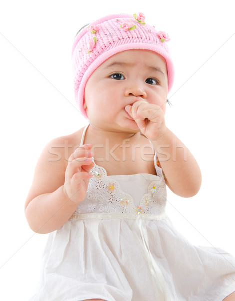 Independent baby girl Stock photo © szefei