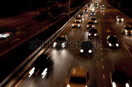 Night traffic Stock photo © szefei