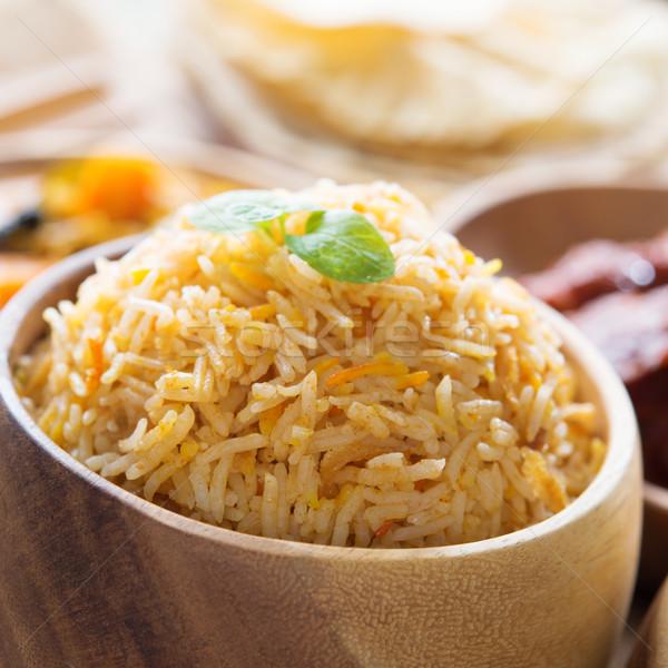 риса свежие приготовленный индийской Сток-фото © szefei