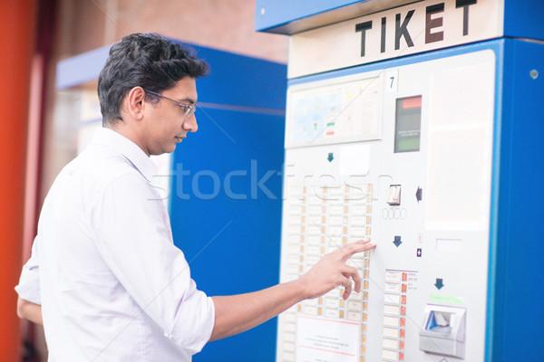 Buying train ticket Stock photo © szefei