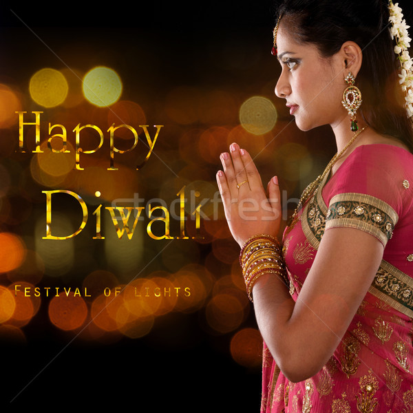 Stock photo: Happy Diwali, festival of lights