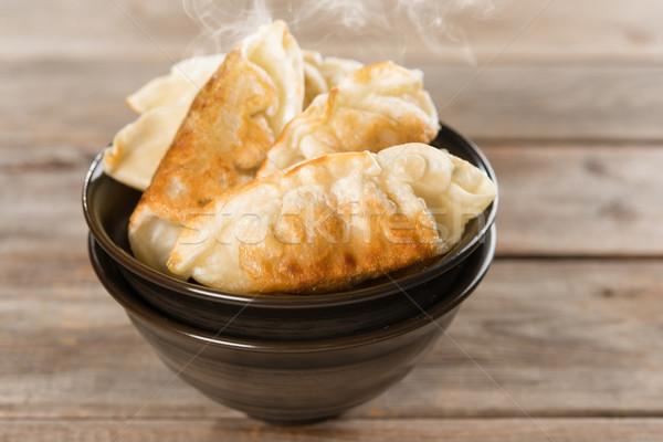 Népszerű kínai étel serpenyő sült közelkép friss Stock fotó © szefei