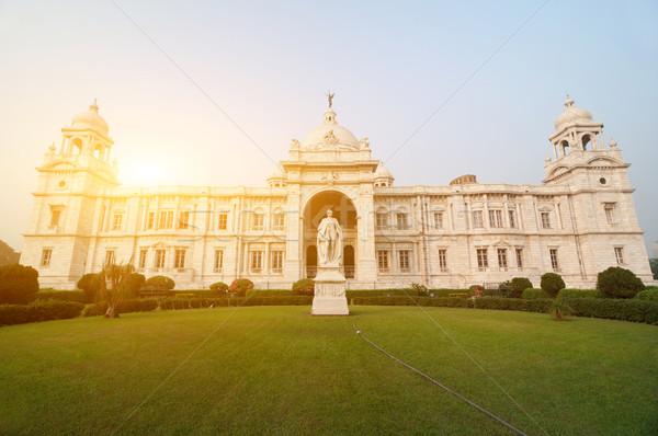 Victoria Memorial in India Stock photo © szefei