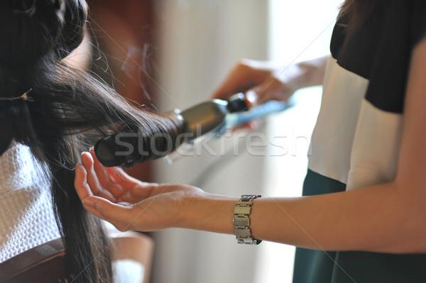 Hair curling Stock photo © szefei