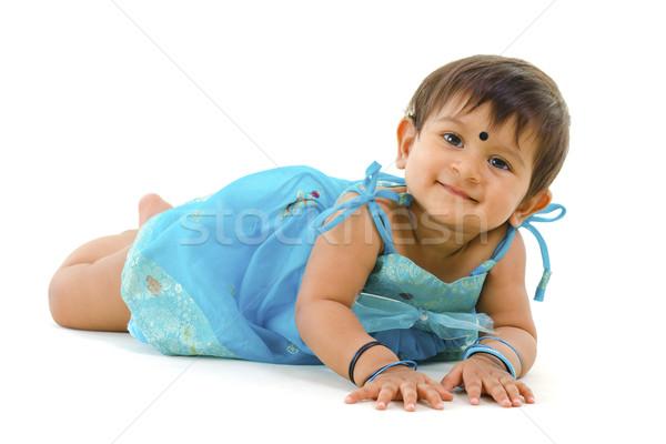 Indian baby girl Stock photo © szefei