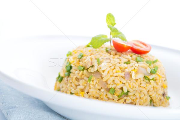Chinese egg fried rice Stock photo © szefei