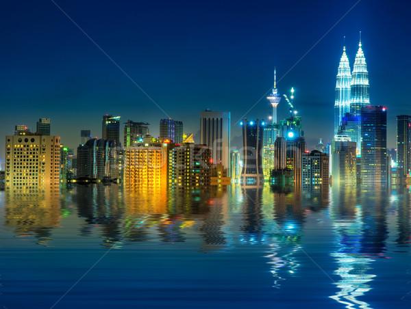 Kuala Lumpur Malezya şehir görmek su Stok fotoğraf © szefei