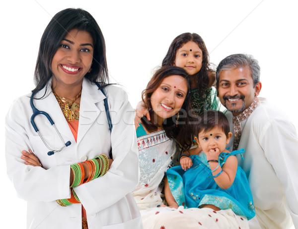 インド 女性 医療 医師 患者 家族 ストックフォト © szefei