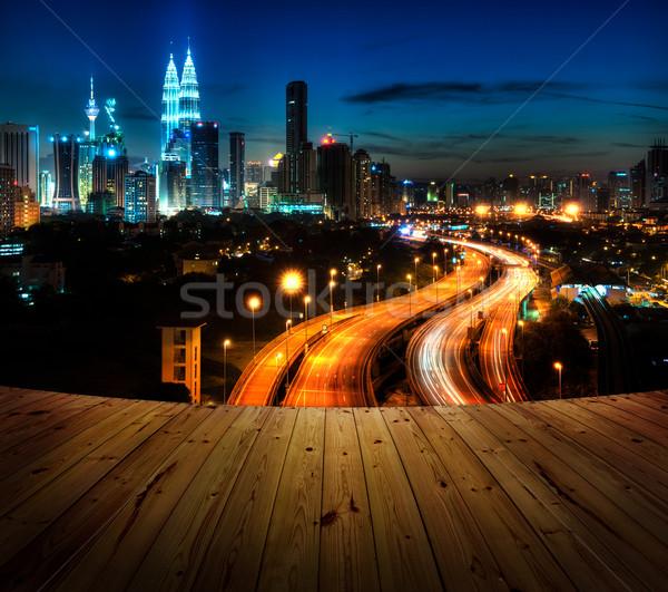 Kuala Lumpur ahşap arka oda balkon Stok fotoğraf © szefei
