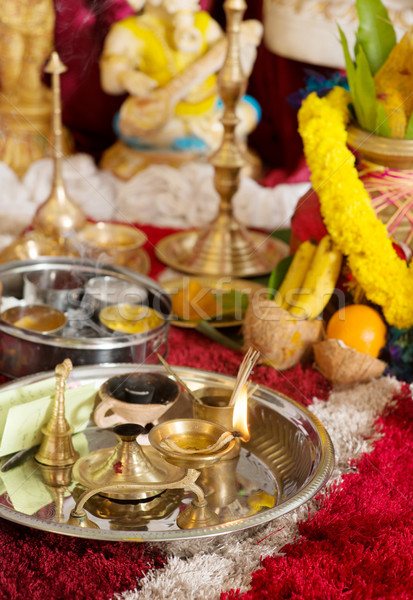 Traditional Indian Hindu religious ceremony Stock photo © szefei