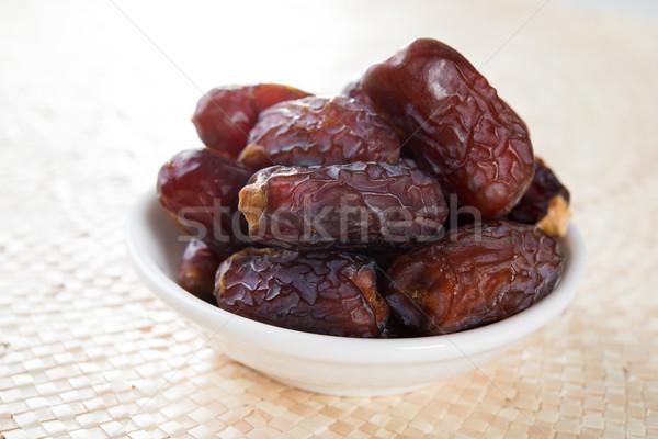 Datolya gyümölcs aszalt randevú pálma gyümölcsök Stock fotó © szefei