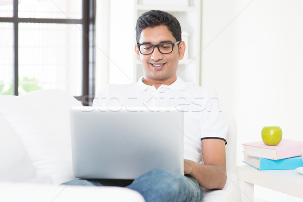 Working from home concept Stock photo © szefei