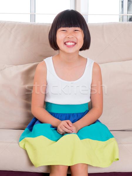 Sud-est asian bambino sette anni vecchio Foto d'archivio © szefei