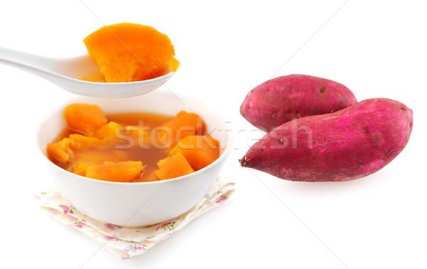 Tatlı patates çorba tatlı patates Asya stil Stok fotoğraf © szefei