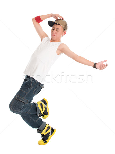 Teen hip hop ballerino funky guardando Foto d'archivio © szefei