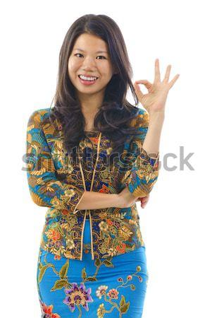 Asian vrouw vrouwen Indonesië Maleisië Stockfoto © szefei