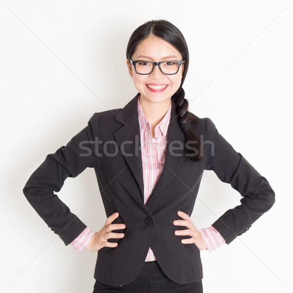Asian businesspeople portrait Stock photo © szefei
