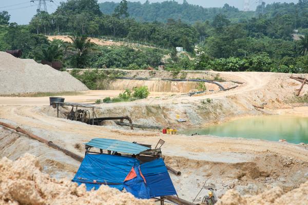 Sand quarry view Stock photo © szefei
