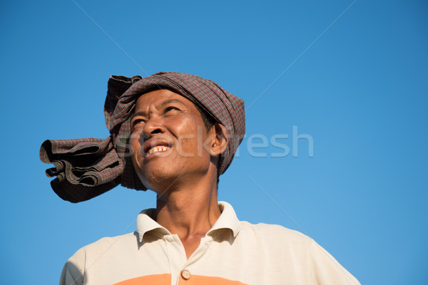 Portrait of Asian traditional farmer Stock photo © szefei