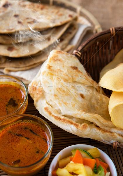 Indiai étel curry tea híres indiai étel Stock fotó © szefei