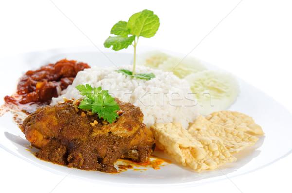 Nasi lemak traditional malay food Stock photo © szefei