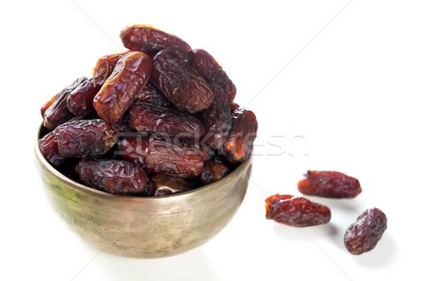 Ramadán étel randevú gyümölcsök datolya gyümölcs Stock fotó © szefei