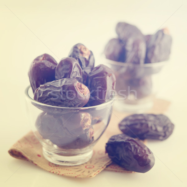 Dates séché date Palm fruits ramadan Photo stock © szefei