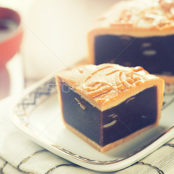Mid autumn festival foods mooncake Stock photo © szefei