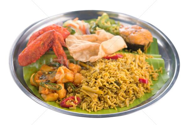 Indian biryani rice isolated Stock photo © szefei