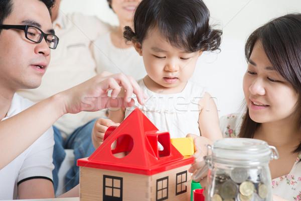 Family lifestyle Stock photo © szefei