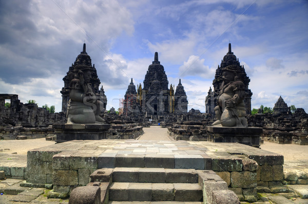 Hindu temple at Prambanan Stock photo © szefei