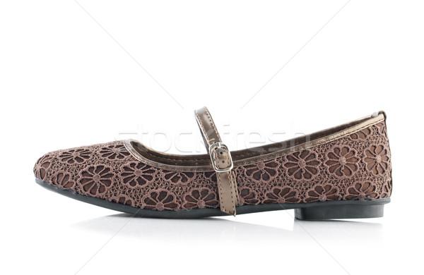Femme chaussures célibataire blanche fille espace Photo stock © szefei