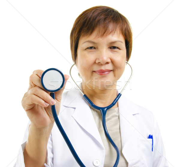 Mature doctor Stock photo © szefei
