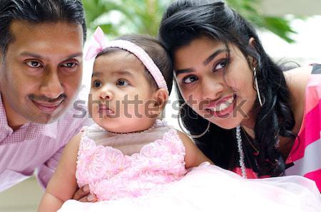 Happy Indian family Stock photo © szefei