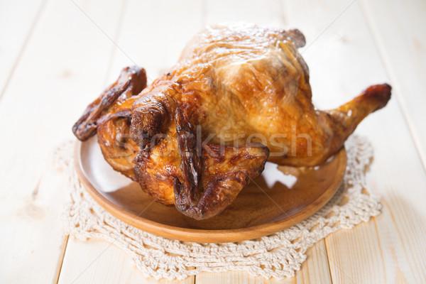 Whole roast chicken Stock photo © szefei