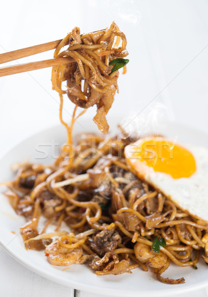 Stock photo: Asian dish stir fried Char Kuey Teow