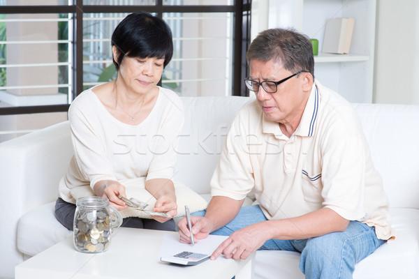 Pension, retiree, saving concept Stock photo © szefei
