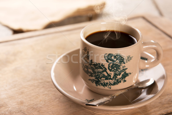 Traditional kopitiam style Nanyang coffee in vintage mug Stock photo © szefei