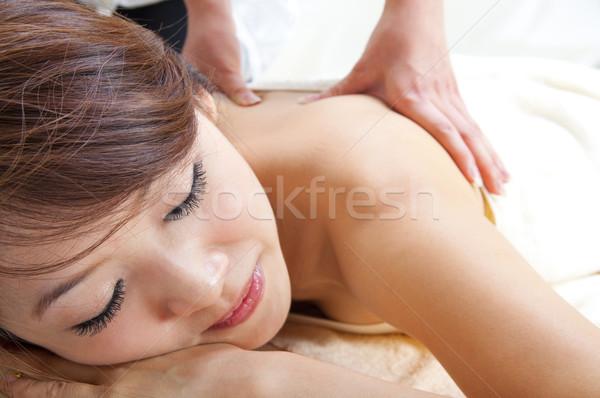 Back massage Stock photo © szefei