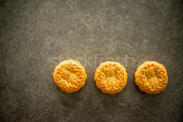 Mid-Autumn Festival Moon cakes with copy space Stock photo © szefei